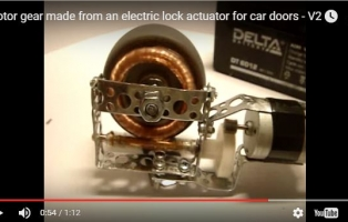 Worm gear made from an electric lock actuator for car doors